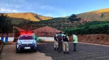 PM reforça segurança na área rural por causa da colheita de café