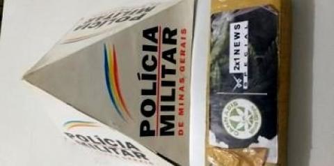PM apreende drogas no Córrego Chalé em Espera Feliz