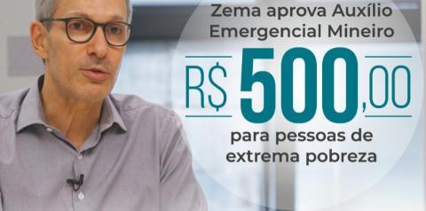 Romeu Zema confirma pagamento de R$ 500 de auxílio a famílias carentes de Minas