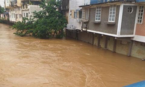 Rio Carangola sobe mais de um metro nas últimas horas