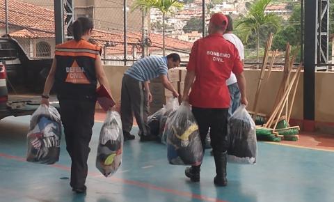 Defesa Civil de MG faz doações em Espera Feliz e região