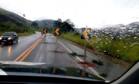 Rodovia  apresenta rachadura e é parcialmente interditada em Guaçuí