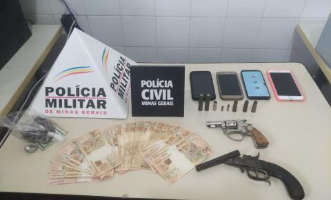 Operação da PM e PC em Divino prende dois suspeitos de roubos e tráfico de drogas na região