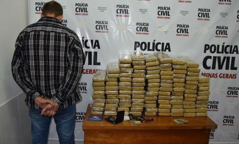 POLÍCIA CIVIL APREENDE MAIS DE 100 TABLETES DE MACONHA