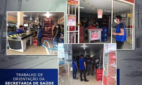 Secretaria de Saúde de Dores do Rio Preto orienta comércio sobre as normas de combate ao covid-19