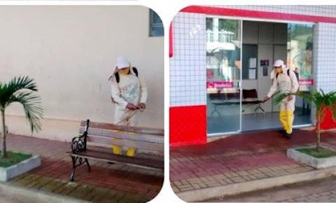 Prefeitura de Caiana realiza desinfecção nas ruas do município