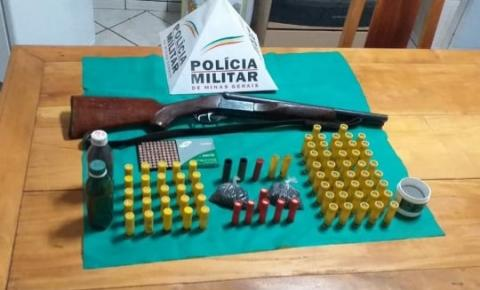 PM apreende arma de fogo e munições em Caiana