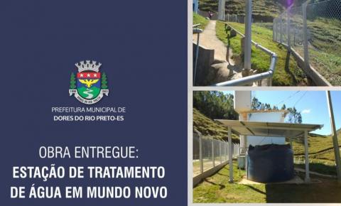 Prefeitura de Dores entrega obra de estação de tratamento de água em Mundo Novo