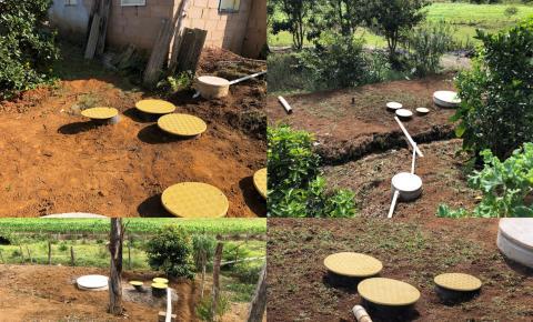 Prefeitura conclui implantação de fossas sépticas em Dores do Rio Preto