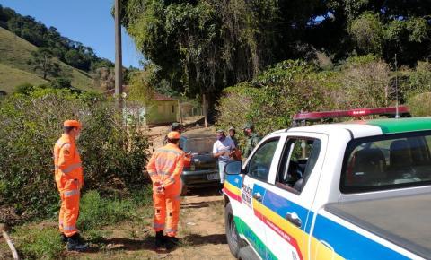 PM de Meio Ambiente realiza ações de prevenção a incêndios florestais em Espera Feliz e região
