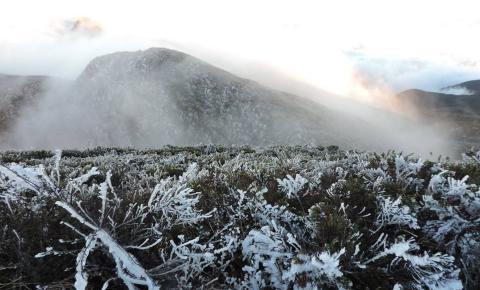 Parque Nacional do Caparaó registra -5ºC nesta madrugada
