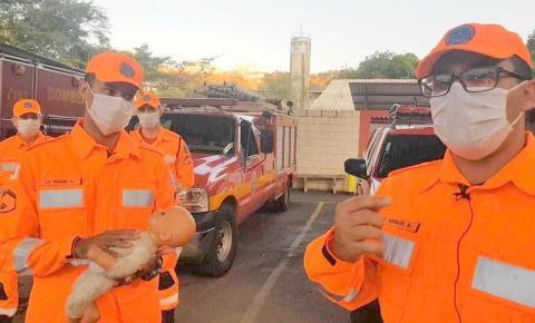 Por telefone, bombeiros ajudam a salvar bebê engasgado em Manhuaçu