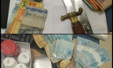 Suspeitos de envolvimento com o tráfico são detidos com drogas em Dores do Rio Preto