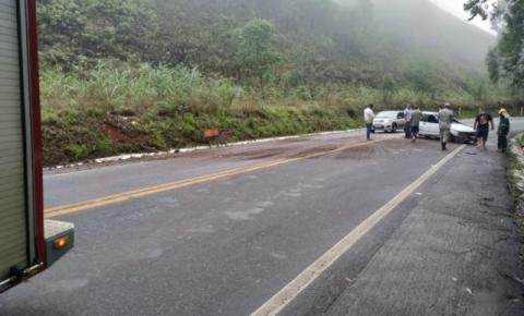 Dois acidentes são registrados na BR 482, em Dores do Rio Preto e Guaçuí
