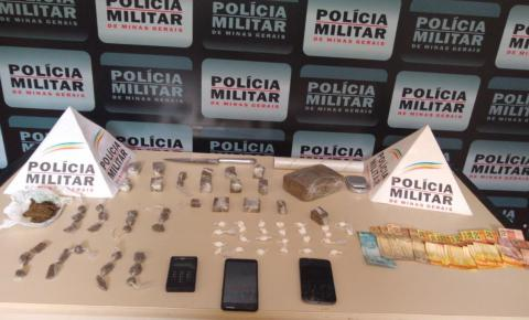 PM de Carangola apreende drogas e prende 02 traficantes