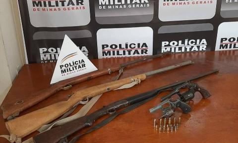 PM apreende 5 armas de fogo em Miradouro