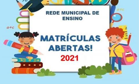 Matrículas  para rede municipal de ensino estão abertas em Espera Feliz