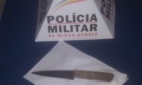 PM de Carangola prende homem que tentou matar ex-companheira a facadas
