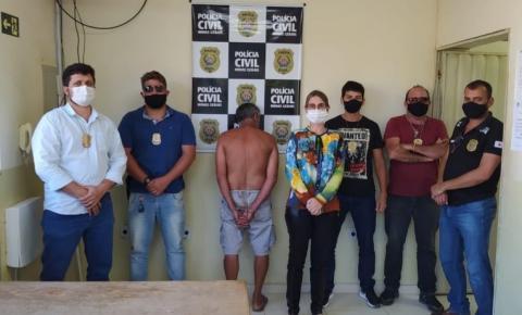 Ação conjunta da Polícia Civil de Espera Feliz e Ipanema prende acusado de estupro