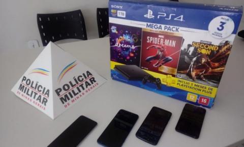 PM apreende 02 suspeitos por furto em loja de celular em Espera Feliz