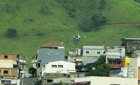 PM realiza operação em Carangola com uso de aeronave