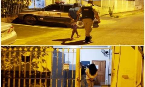 Carangola: Casal é preso e três menores apreendidos em duas ocorrências no mesmo bairro
