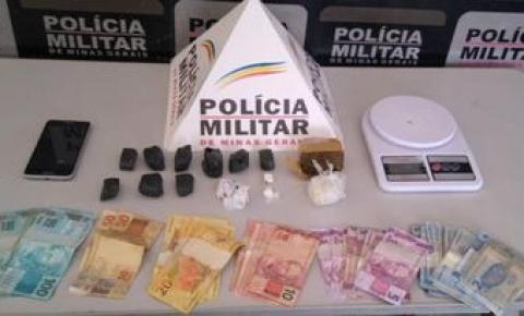 PM prende autor de tráfico e apreende dinheiro e entorpecentes em Manhumirim