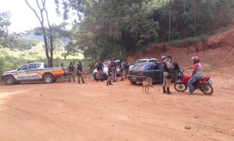 PM realiza operação na zona rural de Carangola, Fervedouro e Divino