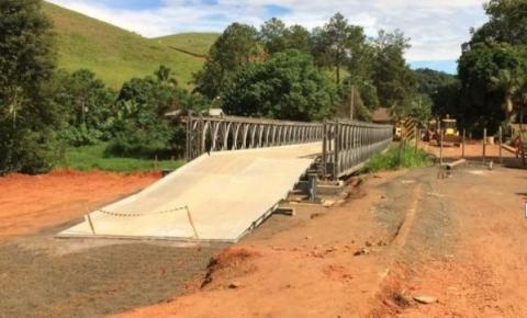 Ponte provisória que liga Guaçuí x Dores já está montada