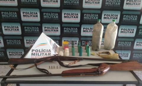 PM apreende armas de fogo durante operação em Divino e Fervedouro