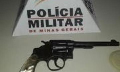 PM apreende arma de fogo em Caiana