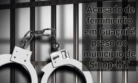 Ação conjunta resulta na prisão de acusado de feminicídio em Guaçuí