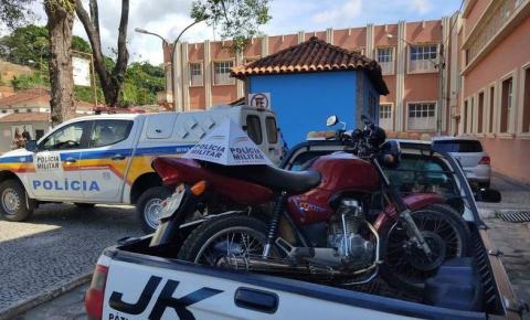 Motocicleta furtada em Manhuaçu é recuperada em Alto Jequitibá