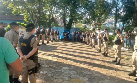 Policiais Militares prestam última homenagem ao Sargento PM Fabiano Pinheiro em Carangola