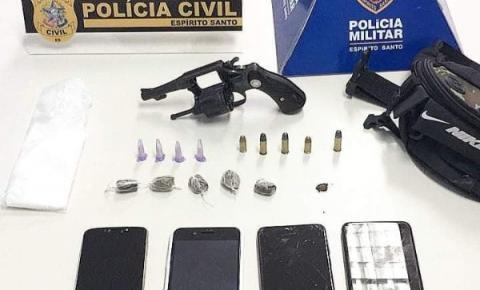 Ação conjunta da PM e PC apreende arma, drogas e detém suspeitos em Guaçuí