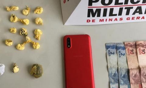 PM prende/ apreende autores de roubo e tráfico de drogas em Manhumirim