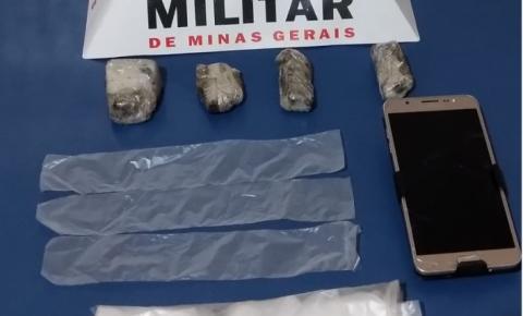 PM de Carangola prende mais um por tráfico de drogas