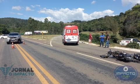 Trágico acidente no Trevo da BR 116 deixa vítima em estado grave em Divino