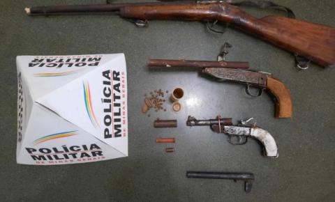 PM prende homem suspeito de fabricar armas de fogo em Fervedouro