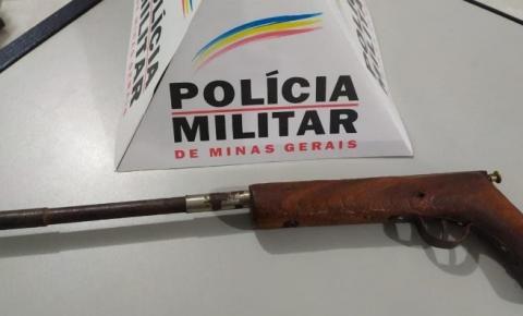 PM apreende arma de fogo na zona rural de Caiana