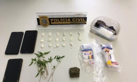 Polícia Civil apreende drogas e efetua prisão em Dores do Rio Preto