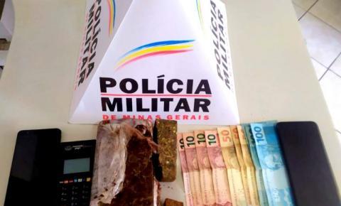 PM prende homem que saiu de Carangola para vender drogas em Caiana