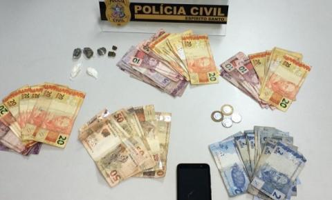 Mulher suspeita de tráfico de drogas é presa em Dores do Rio Preto