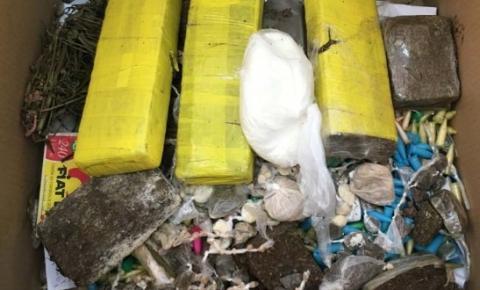 PC de Dores do Rio Preto e Guaçuí incinera 9 quilos de drogas em fornalha