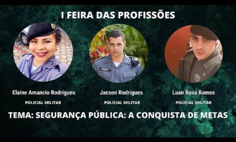 PM participa da 1ª Feira de Profissões da Escola Pedro de Alcântara Galvêas em Dores do Rio Preto