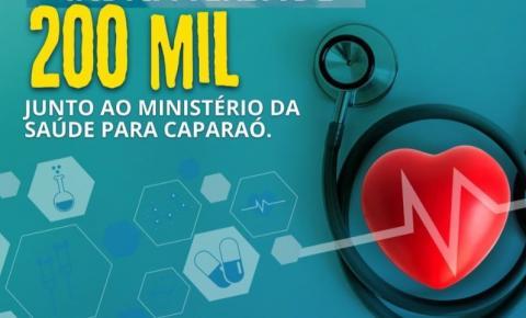 Emenda garante R$ 200 mil para custeio em Incremento ao Piso da Atenção à Saúde de Caparaó