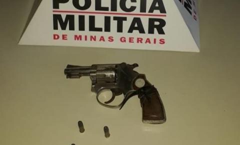 PM apreende arma de fogo e munições na zona rural de Caiana
