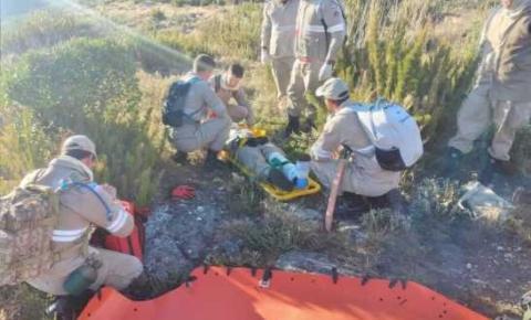 Corpo de Bombeiros  faz treinamento para ações de resgate no Parque Nacional do Caparaó