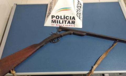 PM apreende arma irregular durante rastreamento de autor de roubo ocorrido em Espera Feliz
