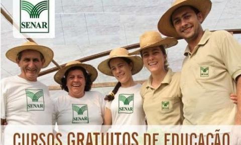 Confira a agenda de cursos do Senar MG em Espera Feliz e região: 26/07 a 31/07
